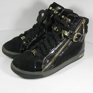 MICHAEL Kors Glam Studded Hi Top Sneakers Shoes 9